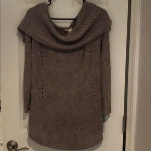 Gray sweater from Anthropologie